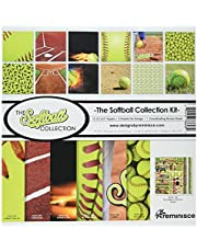 """Reminisce TSOFC-200 Softball Collection Kit, 12"""" by 12"""", Multicolor"""