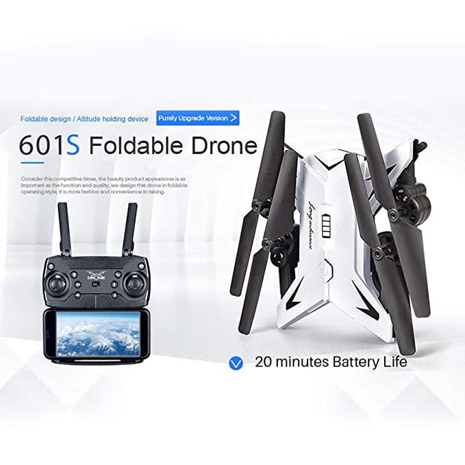 Tree-on-Life KY601S Selfie Plegable RC FPV Drone Quadcopter con ...