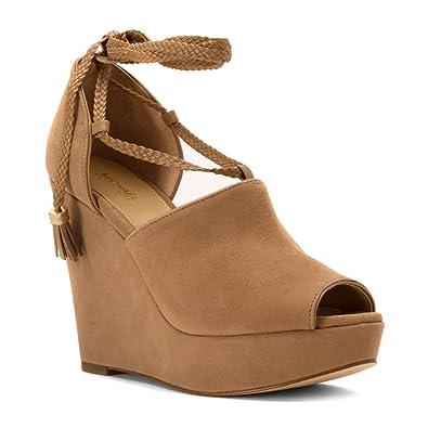 9ac9b4db1a9 Amazon.com | Michael Kors Womens Hastings Leather Peep Toe Casual ...