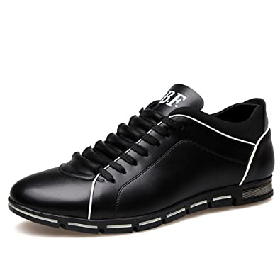 8fd2de5a87 Blivener Men s Fashion Sneakers Casual Breathable Flat Casual Oxford Shoes  03Black EU 38