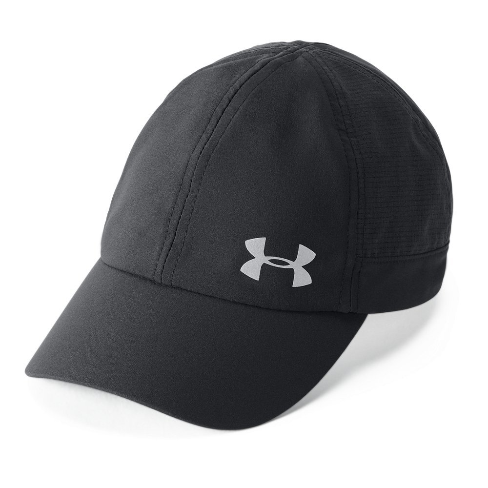 Under Armour Women's Microthread Fly By Cap, Black (001)/Silver, One Size