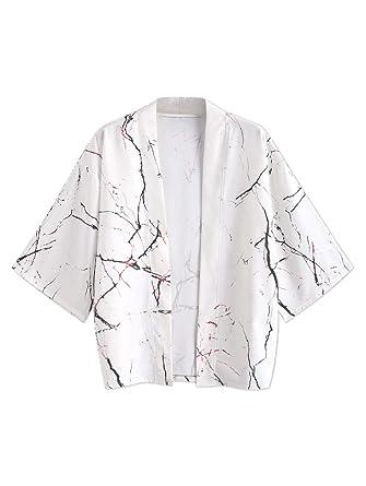 ZAFUL Chaqueta Kimono para Hombre, Estilo japonés, Estilo Cardigan ...