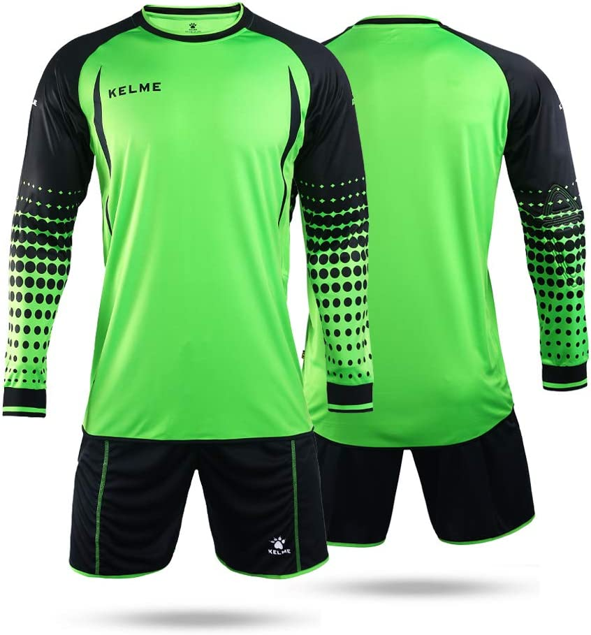 Conjunto para portero de fútbol, de la marca Kelme, de manga larga, color verde y negro, tamaño Medium: Amazon.es: Deportes y aire libre