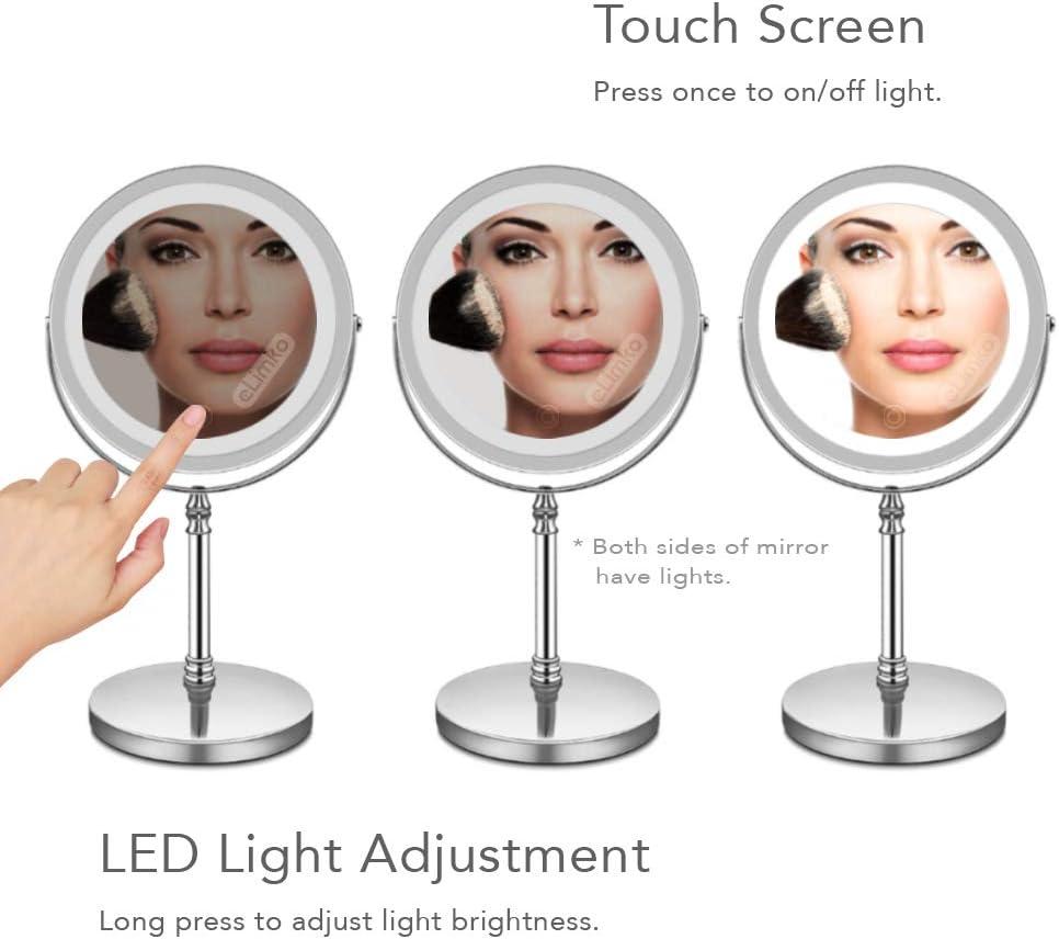 LED Schminkspiegel- Doppelseitig eLimko Vergr/ö/ßerungsSpiegel Schminkspiegel mit Licht USB Aufladen Deleuchtet Spiegel USB wiederaufladbarer 1 oder 5 Fach Vergr/ö/ßerungs Kosmetikspiegel