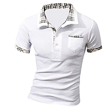 MQ Homme Nouveau Polo Shirts Manche Courte Casual T-shirt Mode Mince Fit Chemise Tee Tops, Rouge, XXL(Buste:42.5 inches/108cm)