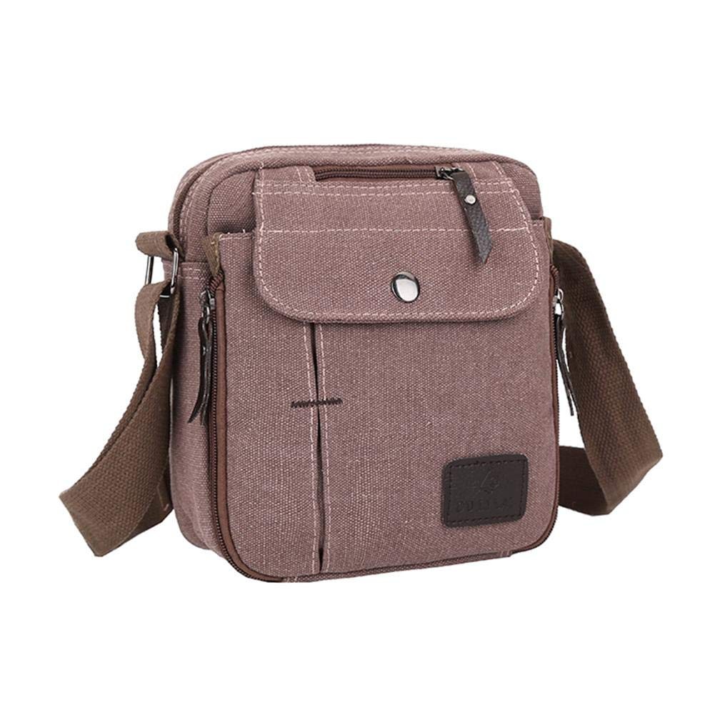 Jocestyle Mens Messenger Bag Canvas Shoulder Bag for Work College Traveling Camping