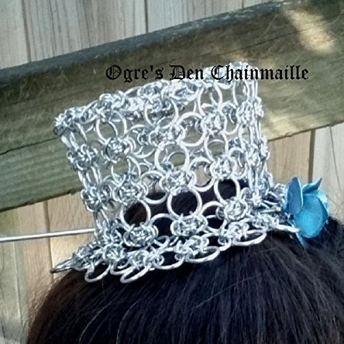 Chainmaille Tiny Hat Byzantine Lace by Ogre's Den Chainmaille