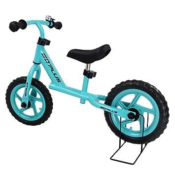 COSTWAY 12 Rueda de Bicicleta Infantil de Aprendizaje Bicicleta Infantil con Ruedas Andador sin Pedales lernlaufrad a Partir de 3 años, Azul: Amazon.es: ...