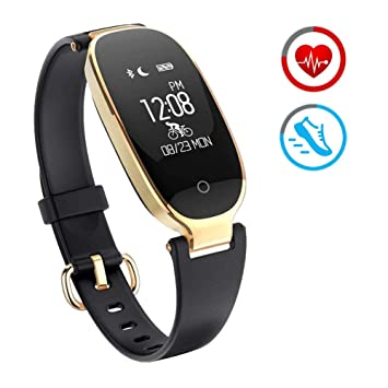 Reloj Inteligente mujer ZKCREATION Fitness Tracker K3 Bluetooth Smartwatch Pulsera Inteligentes Actividad Monitor Cardio Podómetro IP67