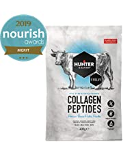Hunter & Gather 100% Premium Unflavoured Bovine Collagen Peptides Powder 400g | Highly Bioavailable - Excellent for Gut Health, Keto, Paleo, Muscles, Joint Pain, Healthy Hair & Nails - Made in The UK