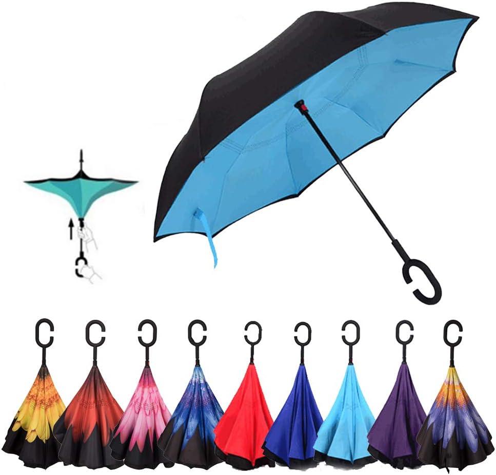 Wicemoon Parapluie Coupe-Vent Pliable Durable pour Homme Femme