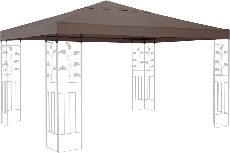 QUICK STAR Techo de Repuesto para cenador de 3 x 3 m Gazebo Marrón-Gris: Amazon.es: Jardín