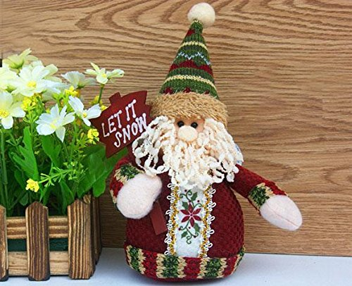 Christmas Lovely Doll Decoration Santa Claus Snowman Hanging Tree Ornament Gift