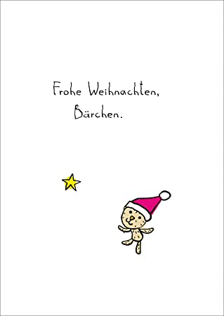 Stern Frohe Weihnachten.Susse Weihnachtskarte Mit Weihnachts Barchen Und Stern Frohe