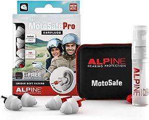 Alpine MotoSafe Pro Reusable Ear Plugs – Motorcycle Ear Plugs – Noise Reduction & Ear Protection - Motorcycle Earplugs Set for Touring & Racing - Hypoallergenic Reusable Earplugs