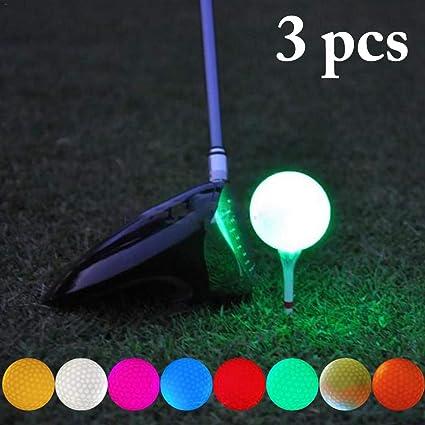 Fansport 3PCS Pelota De Golf LED Luminous Glow Pelota De Golf LED ...