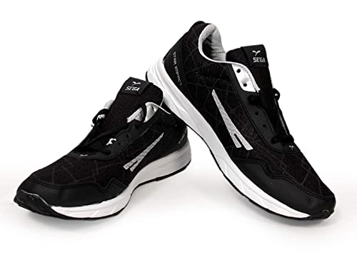 Buy SEGA Men's Black Running Shoes at
