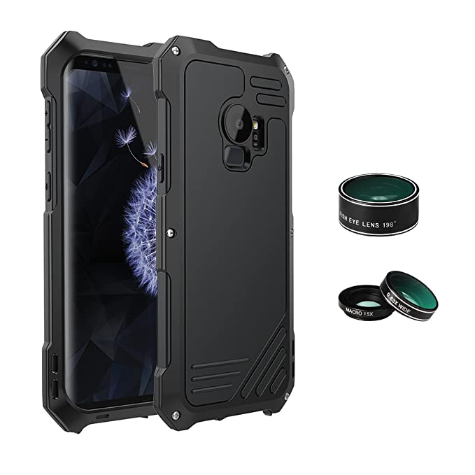 watch ca019 ef605 ELEOPTION Camera Lens Kit Cover Case for Samsung Galaxy S9 S9+ With 3  Camera Lens 360° Full Protection Aluminum Lightweight Case Waterproof And  ...