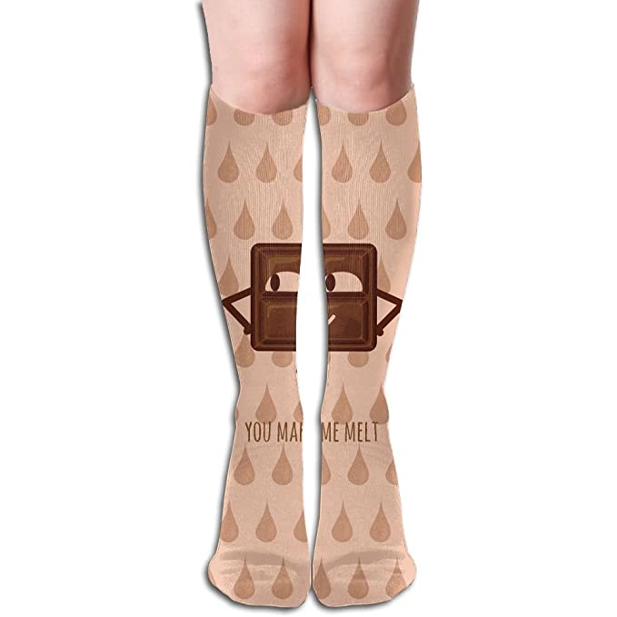 4253bd6da1 Image Unavailable. Image not available for. Color: Unisex You Make Me Melt  Feel Hot Weather. Design Elastic Long Socks ...