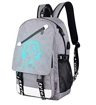 ... con USB Antirrobo Instituto Chicas Universidad Casual Grandes Mochila Ordenador Portatil PC Viajar Backpack Chulas Gris Claro: Amazon.es: Equipaje