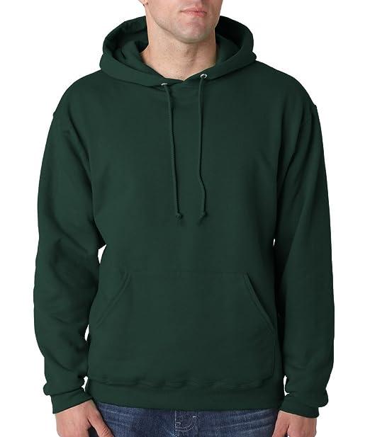 Sudadera con capucha, de la marca NuBlend Jerzees, 996 M (grande/color negro) Verde verde (Forest green) Small: Amazon.es: Ropa y accesorios
