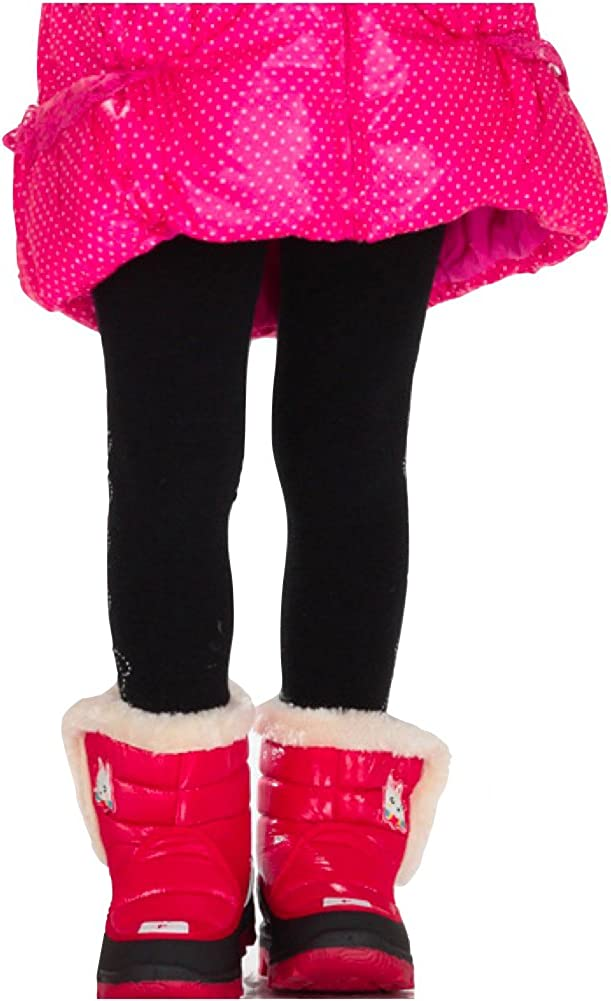 ToBeInStyle Girls Pack of 6 Full Length Footed Winter Knit Acrylic Uniform Tights