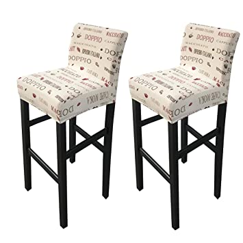 Amazing Deisy Dee Stretch Slipcovers Chair Cover For Counter Height Side Chairs Covers Stretch Protectors Pack Of 2 C172 S Gmtry Best Dining Table And Chair Ideas Images Gmtryco