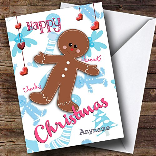 Sweet Gingerbread Man Children's Personalized Christmas Holiday Greetings (Sweet Greetings Gingerbread)