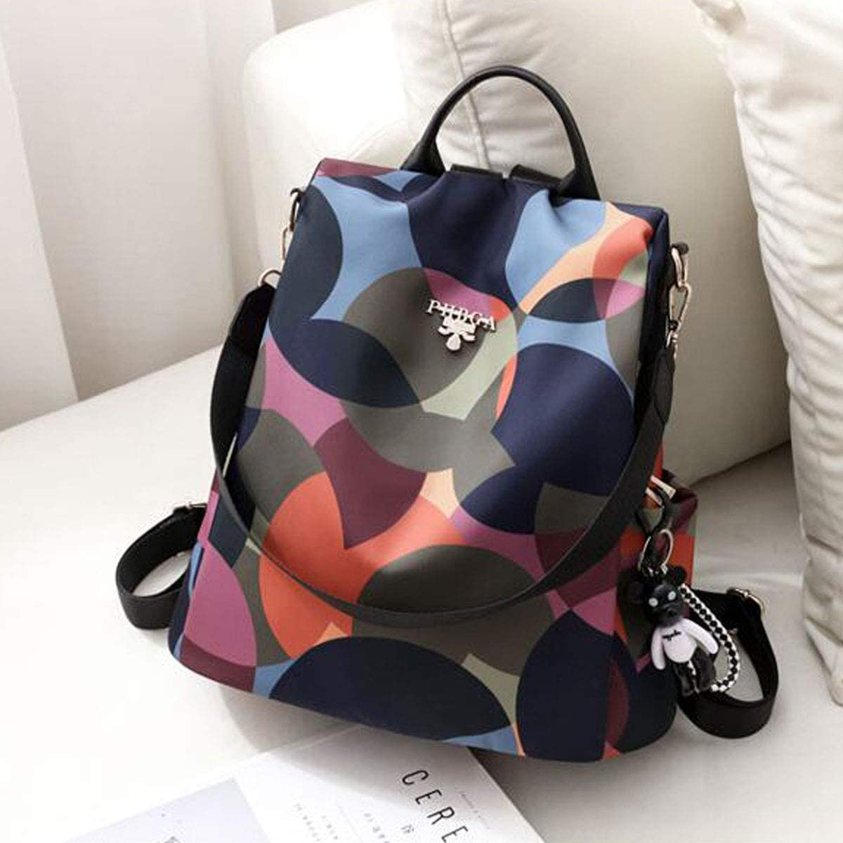Chenjinxiang01 Backpack for Women Design : Style Two Personalized Versatile Shoulder Bag Waterproof Oxford Cloth Backpack