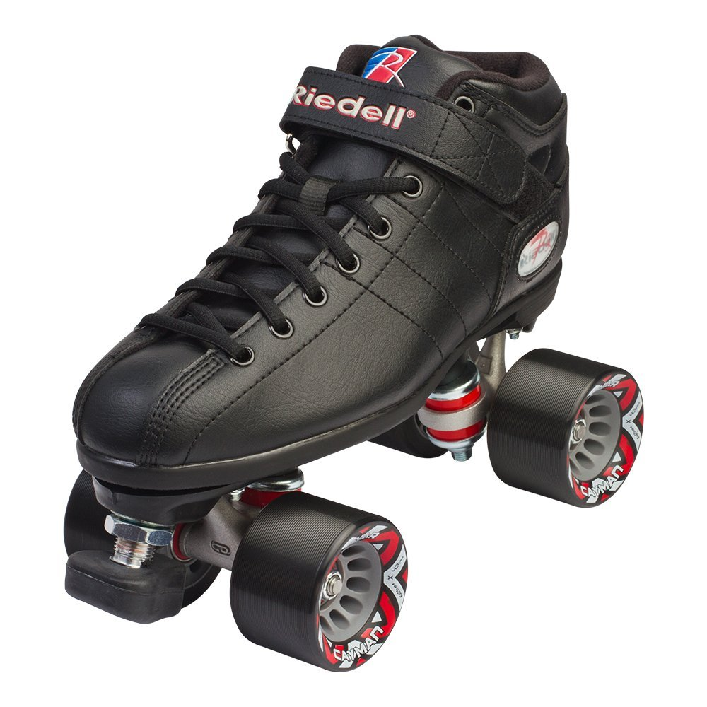 Riedell Skates - R3 - Quad Roller Skate for Indoor / Outdoor | Black | Size 4
