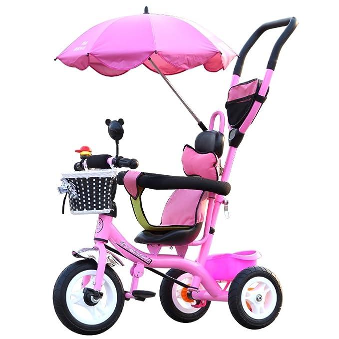 Triciclos para niños Bicicletas 1-5 años Carritos Portabebés Bicicletas para niños, Púrpura / Rosa / Rojo / Azul, 71 * 105cm (Color : Pink) : Amazon.es: ...