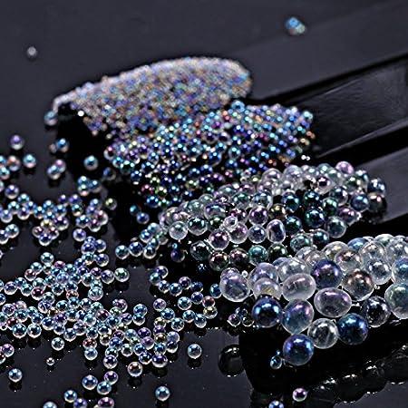 Artlalic - Juego de 4 botellas de cristal AB para decoración de uñas