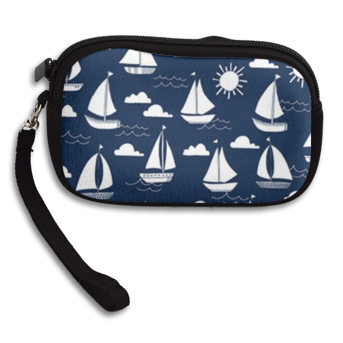Coin Purse Sailing Navy wallet change Purse with Zipper Wallet Coin Pouch Mini Size Cash Phone Holder
