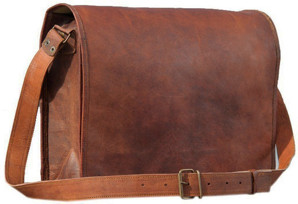 Handcrafted exports Vintage Leather Messenger Laptop Brown Bag by Handcrafted exports