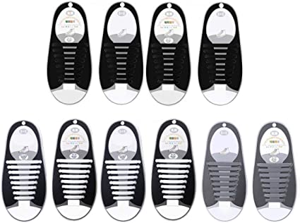 Geekercity 5 Pairs No Tie Shoelaces for