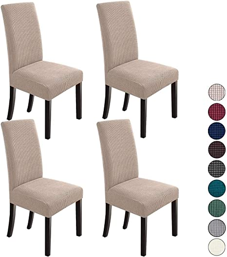 Amazon Com Northern Brothers Dining Room Chair Slipcovers Dining Chair Covers Parsons Chair Slipcover Stretch Chair Covers For Dining Room Set Of 4 Khaki Home Kitchen