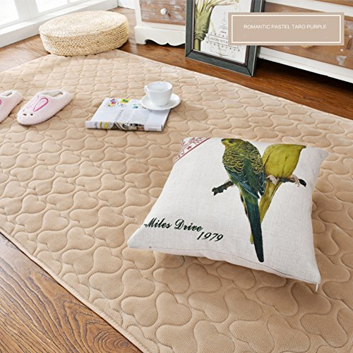 Decorative Rugs Modern Carpet Rectangle mats for Bedroom Living Room Simple Bedside Nordic flattened Short Plush Mattress Coffee Table Tatami Home Non-Slip Washable-B 110x210cm(43x83inch)
