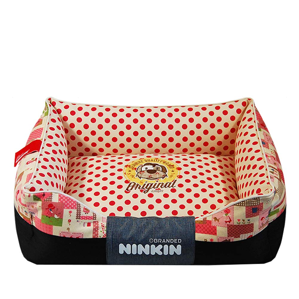 Red 3648cm Red 3648cm Pet Bed,Ultra Comfort Dogs & CatsPet Bed,Four Seasons Universal Dog Bed,Easy to Wash Removable,Suitable for Small and Medium Dogs
