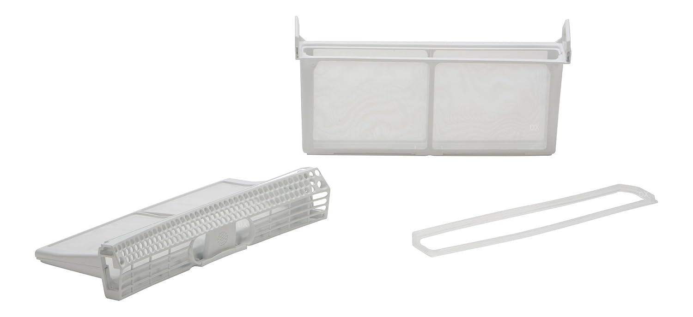 DREHFLEX®- Filtro Lanugine – Filtro cattura peluria per diverse marche di asciugatrice –Bosch, Siemens, Constructa, Neff – Compatibile con le parti nr. 650474 / 00650474 – Piegabile - Set di 3 parti