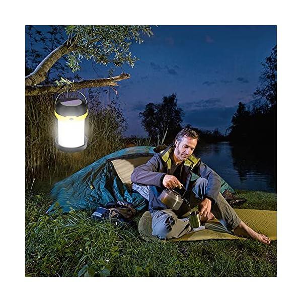 61CjRRmrKtS Molbory Camping Laterne Taschenlampe Zusammenklappbar, 2 Lademethoden Solar und USB mit 3 Lichtmod Faltbare Camping…