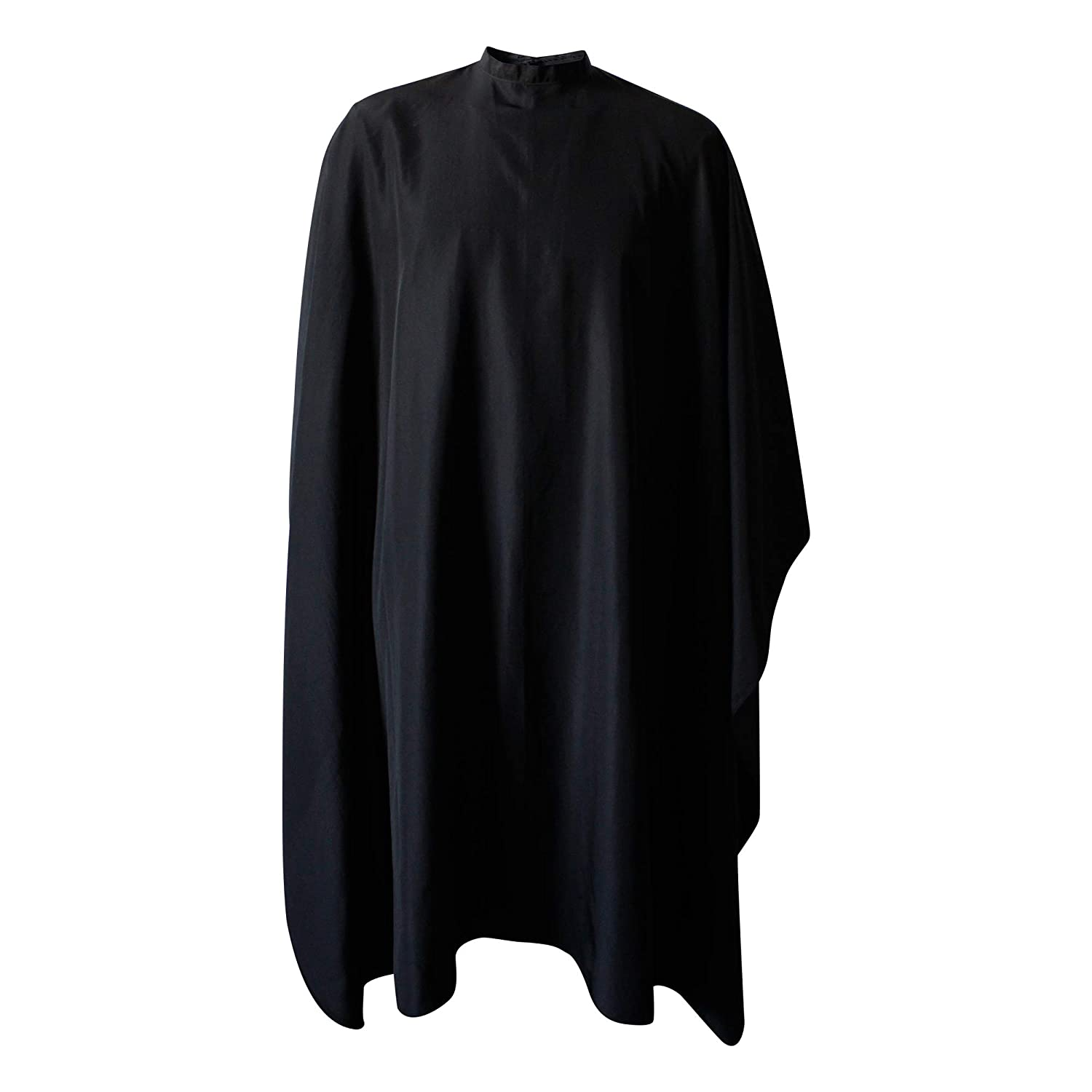 SMARTHAIR Professional Salon Cape Polyester Haircut Apron Barber Hairdressing Gown, 54x62, Black, C007001E-L 54x62