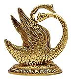 Decorative Brass Swan Statue Gold Tone Figurine Sculpture Office Table Home Decor