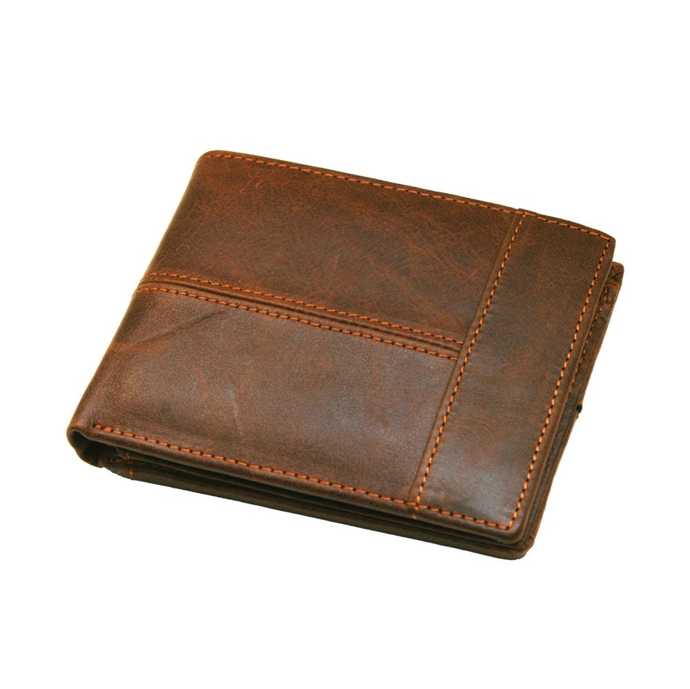 (Based in Toronto) MooseLand Men's Leather Trifold RFID Blocking Wallet JW&J