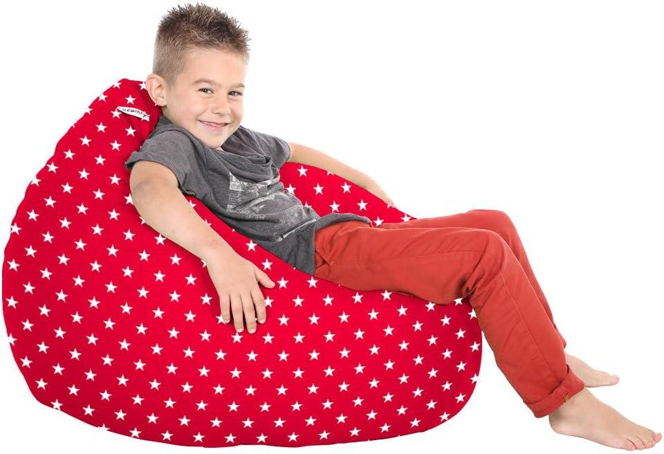 rucomfy Bean Bags Trend Kids Classic Stars Bean Bags Red
