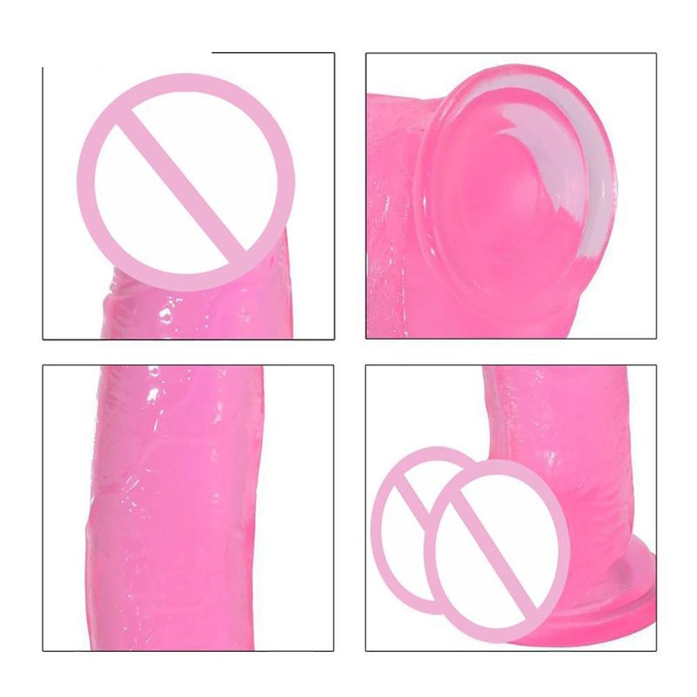 QQ Pink Big Realistic Dildo Con TPE Ventosa Soft TPE Con Penis Fit Para Principiantes Erotic Sex Toys Producto Sexual Para Mujeres Lesbian Couple Games 0be51a