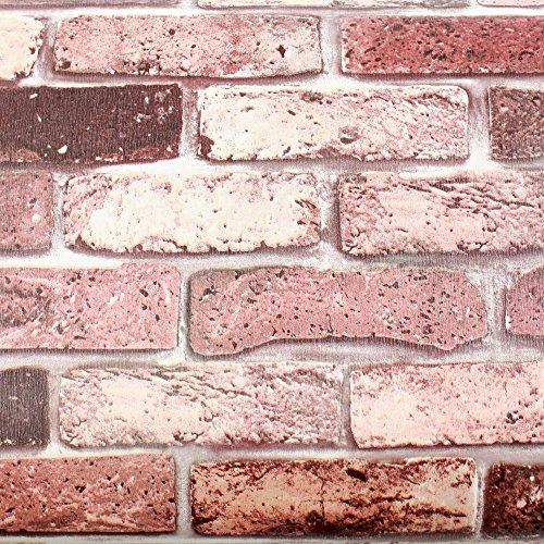Magicfix Peel and Stick PVC Instant Brick/Stone Decorative SelfAdhesive Film Countertop Backsplash Rust Brick DBS16 : 196 feet X 984 feet