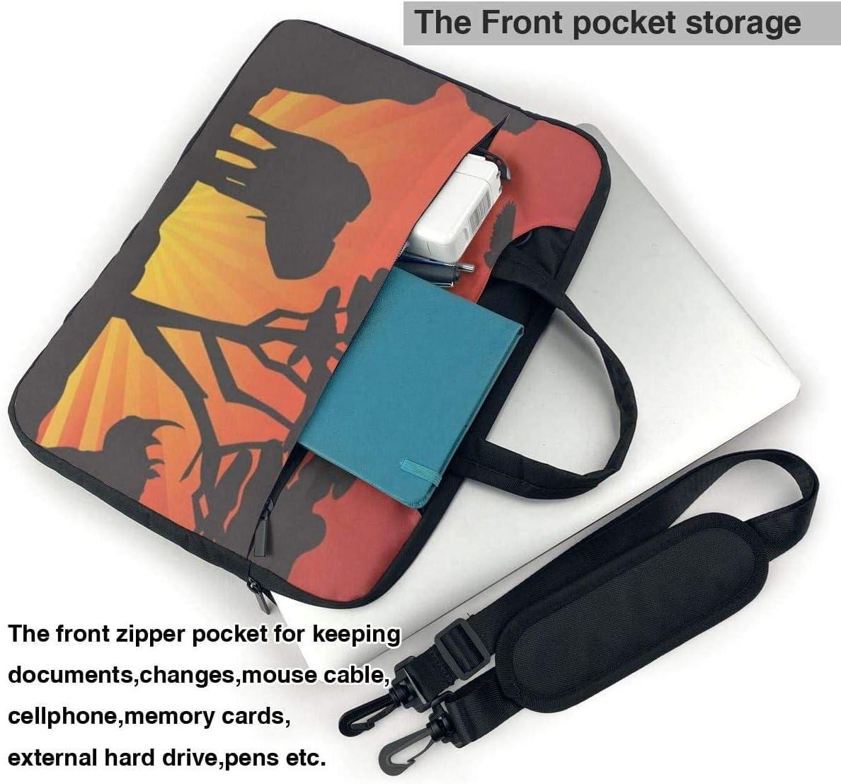 Animals and Shockproof Laptop Shoulder Messenger Bag Laptop Case Sleeve Laptop Briefcase Business Handbag