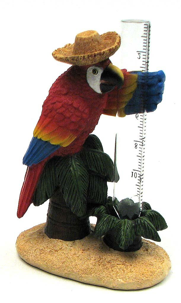 Colorful Parrot Rain Gauge