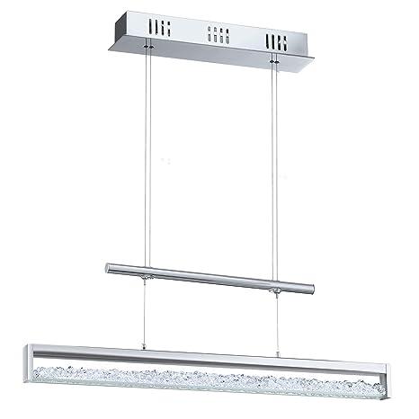 Eglo Modelo Cardito 90928 - Lámpara colgante LED (de aluminio y acero cromados y cristal, 1 x 24,96 WE, 156 LED, 510 lm, incluye bombillas, 70 x 110 ...