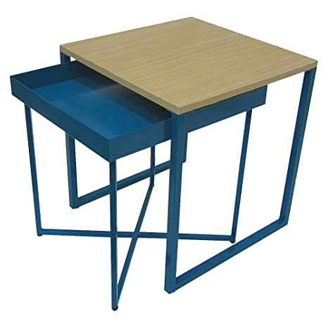Amazon Accent Table Room Essentials Nesting Tables BLUE